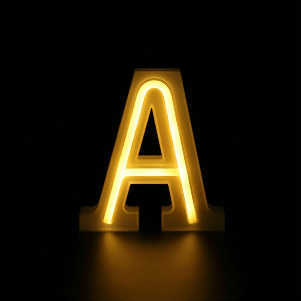 LED Letters Alphabet Sign Numbers Light Up Decorative White Standing