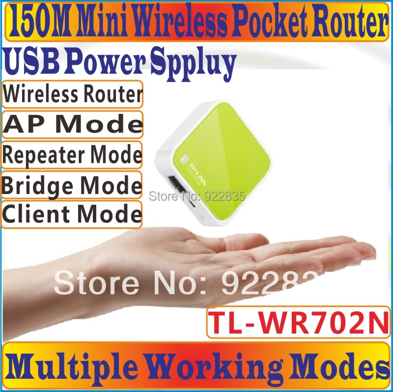 [Chinese Firmware] Portable Mini TP-LINK 150Mbps Wireless Router AP  Repeater, 150M Wireless N Nano Router, 802 11b/n/g