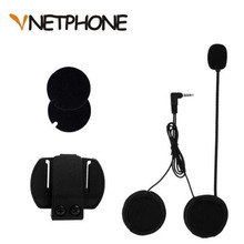 VNETPHONE 3.5mm Jack Microphone Speaker Headset And Helmet Intercom Clip for Motorcycle Bluetooth Device Vnetphone V4 V6
