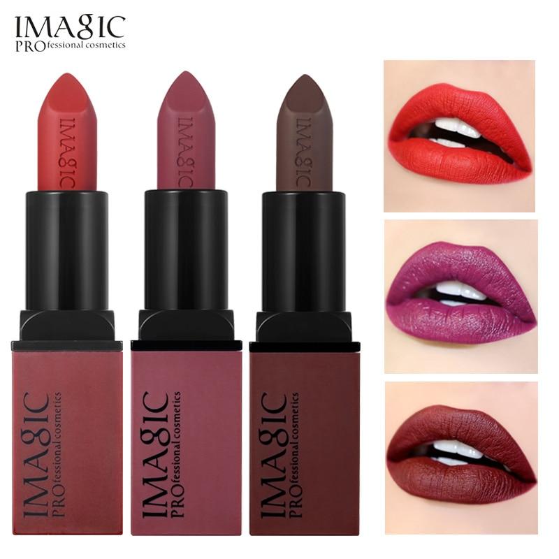IMAGIC Creme Dnude Soft Blankety Born Brave Pink Ruby Woo Red Rebel Plum Sin Deep Lipstick Hot Sexy Colors Lip Paint 3pcs/set каталог pink lipstick