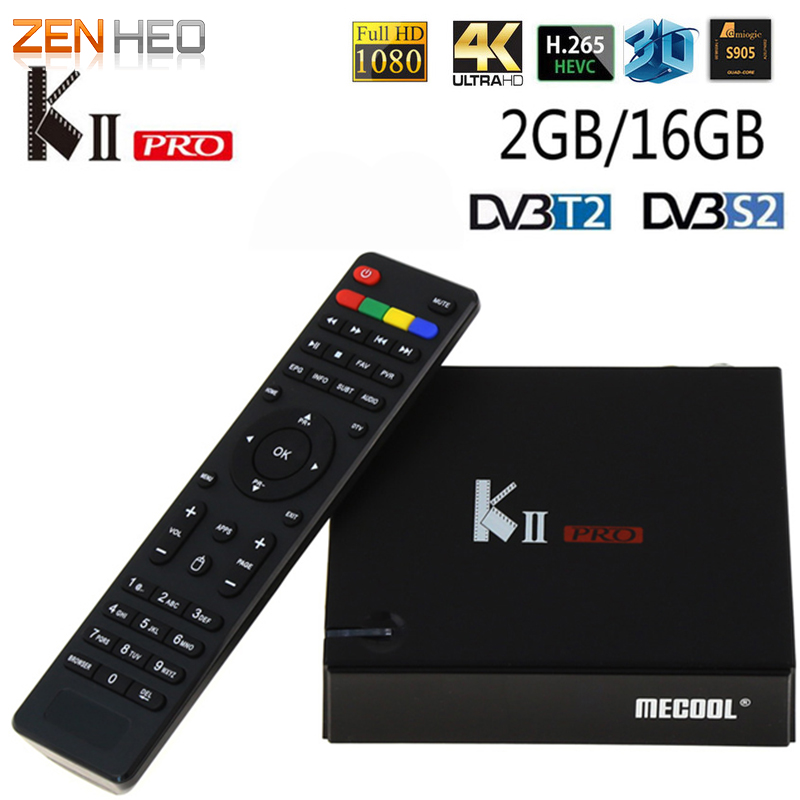 KII PRO android tv box DVB-T2 DVB-S2 satellite receiver Android 5.1 Amlogic S905 2G/16G 2.4G WIFI Bluetooth 4.0 2k*4k Smart TV kii pro android tv box amlogic s905 media player 2g 16g dual wifi iptv dvb s2 t2 k2 pro satellite receiver ship from russian