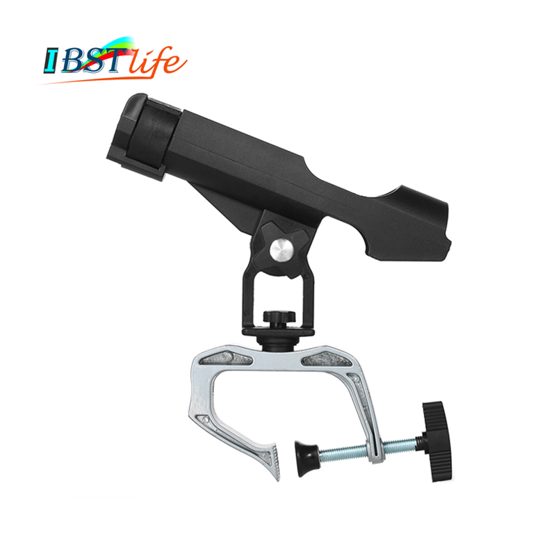 Fishing Rod Holders Clamp On Adjustable Removable 360 Degree Kayak Boat Support Pole Stand Bracket