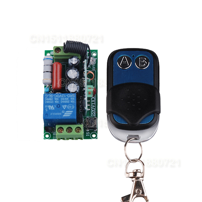 Lighting Accessories Romantic 220v 1ch 10a Rf Receiver&transmitter Wireless Remote Switch For Light Lamp Momenrary Toggle Latched Adjustable 100pcs/lot High Quality And Inexpensive