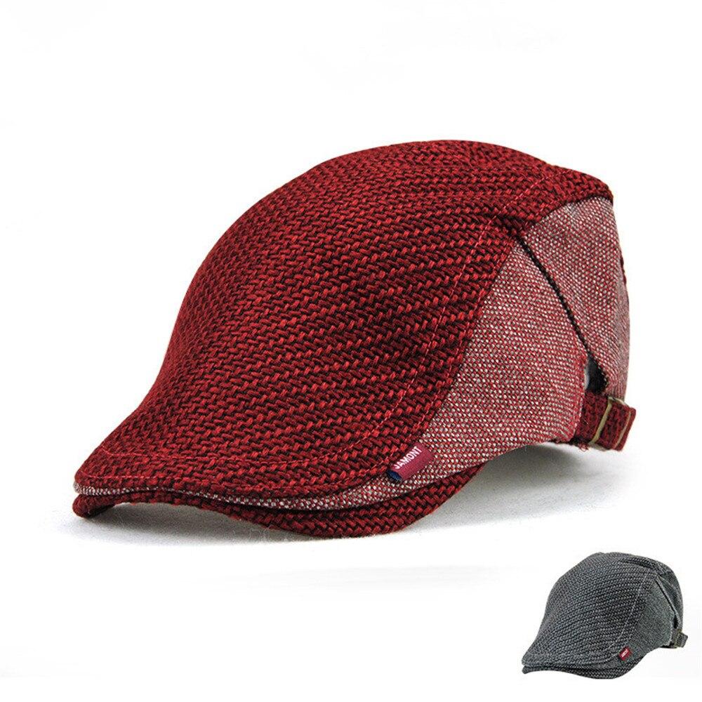 Fashion Womens Beret Hats Duckbill Casquette Boina Buckle Visors Golf Driving Flat Detective Hat Casquette Newsboy Cap 2018