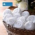 Bebê Dupla de Gaze Fraldas Reutilizáveis Infantil Fraldas De Musselina De Bambu Super Macia Toalha de Banho Lavável Fralda de Pano Branco Puro 5 Pçs/lote