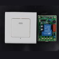 220V Remote Switch 30A Relay Receiver Wall Panel Noctilucent Transmitter Wireless Light Lamp LED Learning Code