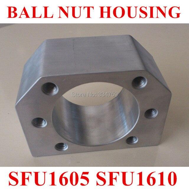 Free Shipping of ballscrew nut housing  bracket holder for SFU1604 SFU1605 SFU1610 Aluminium Alloy Material for 1605 ball screw
