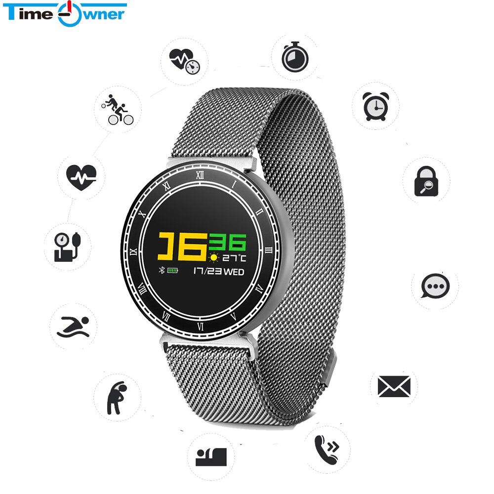 Chronomètre CF007 Pro bande intelligente traqueur de fréquence cardiaque appel de pression artérielle SMS rappel étanche Bracelet intelligent de remise en forme Bracelet
