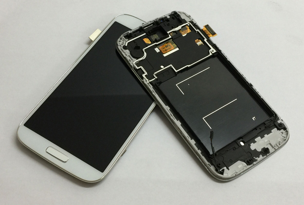 For Samsung Galaxy S4 gt- i9500 i9505 i337 Touch Screen Digitizer Glass Sensor + LCD Display Panel Monitor Assembly + Frame