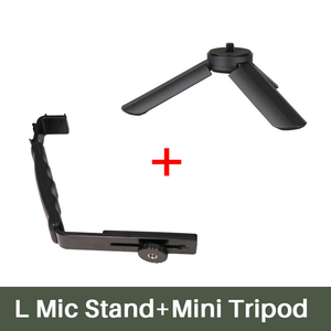 Image 3 - Smooth Q 4 Mic Stand L Bracket Camera Handle Grip for Zhiyun Smooth 4 DJI Osmo LED Light Rode Videomicro with 2 Hot Shoe Mounts