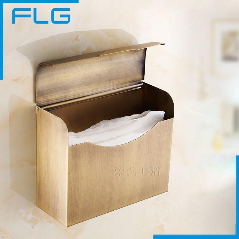 FLG Bagno Accessaries Stainless Steel Antique Paper Holders Box, Paper Holder porte papier toilette bagno and associati полотенцедержатель bagno associati folie fs21452 oro