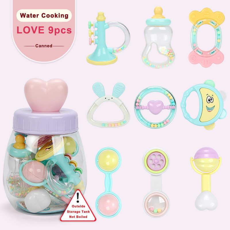 Bebé juguetes 0-12 meses sonajeros oyuncak móviles campana de la cama de los niños Speelgoed educativo juguete recién nacidos regalo pelotita para las niñas
