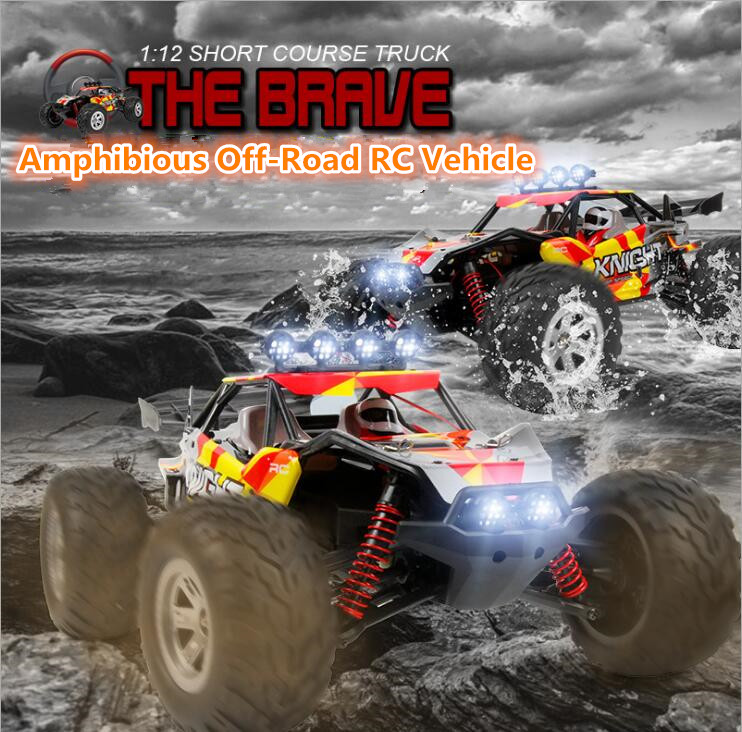 New FY11 1/12 38CM 2.4G 4WD 40KM/H 15-18min High Speed Short Course rc amphibious car toy Truck RTR on land and water VS 10428-A great hobbyking extreme short course short course brushless motor 120a 2s 4s esc speed controller for 1 8 1 10 suv car