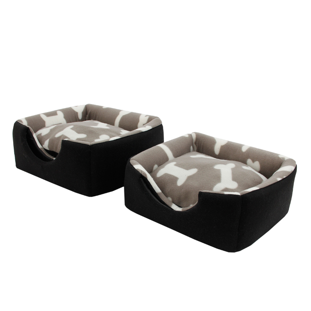 Multi-functional Three-Use Dog Bed Cotton Kennel Pet House Puppy House Pattern Bone Gray Color S/M Great Quality Cat Bed  5