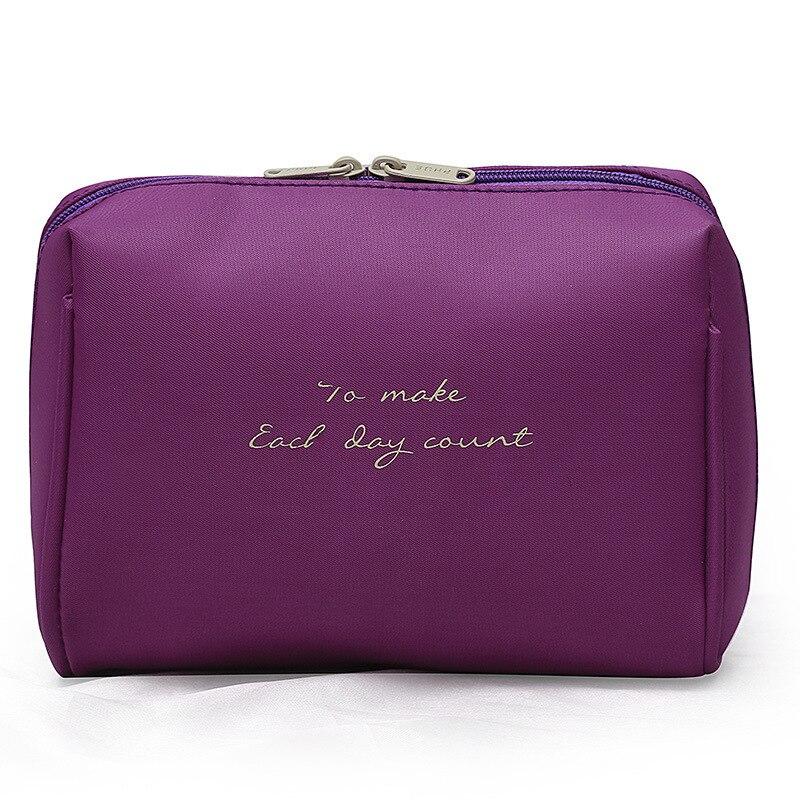 1 PCS Solid Color Cosmetic Bag Women Beauty Case Make Up Organizer Travel Bag Kits Portable Toiletry Bag Drop Shipping