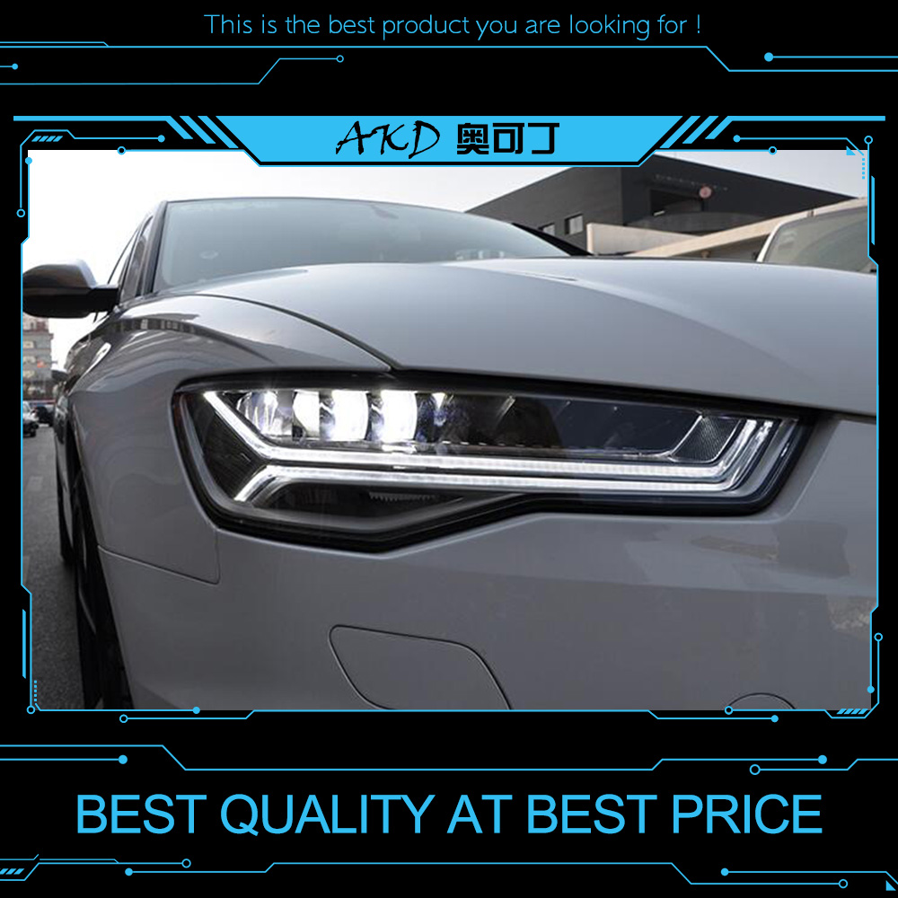Akd Tuning Cars Headlight For Audi A6 2017 Headlights Led Drl Running Lights Bi Xenon Beam Fog Angel Eyes Auto Level In Car Light Embly From