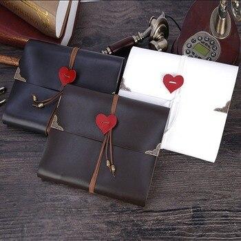 DIY Scrapbook foto álbum de cuero de la PU de álbum de fotos 30 páginas de álbum de fotos de la boda de San Valentín regalos de navidad