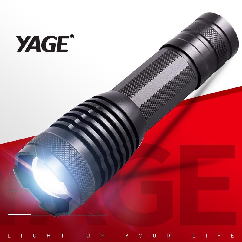 YAGE YG-339C Lanterna T6 2000LM Alumínio Zoom CREE LED Lanterna Tocha Luz para 18650 Bateria Recarregável ou bateria AAA/26650