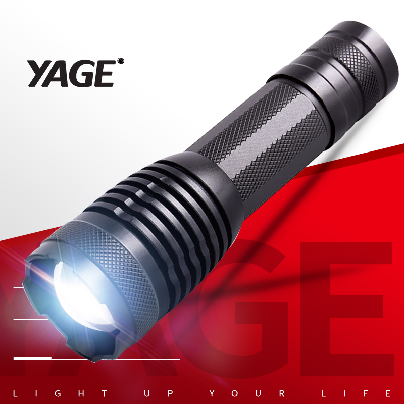 YAGE YG-339C Flashlight T6 2000LM Aluminum Zoom CREE LED Flashlight Torch Light for 18650 Rechargeable Battery or AAA/26650YAGE YG-339C Flashlight T6 2000LM Aluminum Zoom CREE LED Flashlight Torch Light for 18650 Rechargeable Battery or AAA/26650