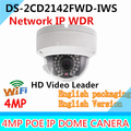 Neutral English Version IP Camera 4.0 megapixel V5.4.1 CCTV Camera POE Security System IP Caemra wifi DS-2CD2142FWD-IWS 2.8mm