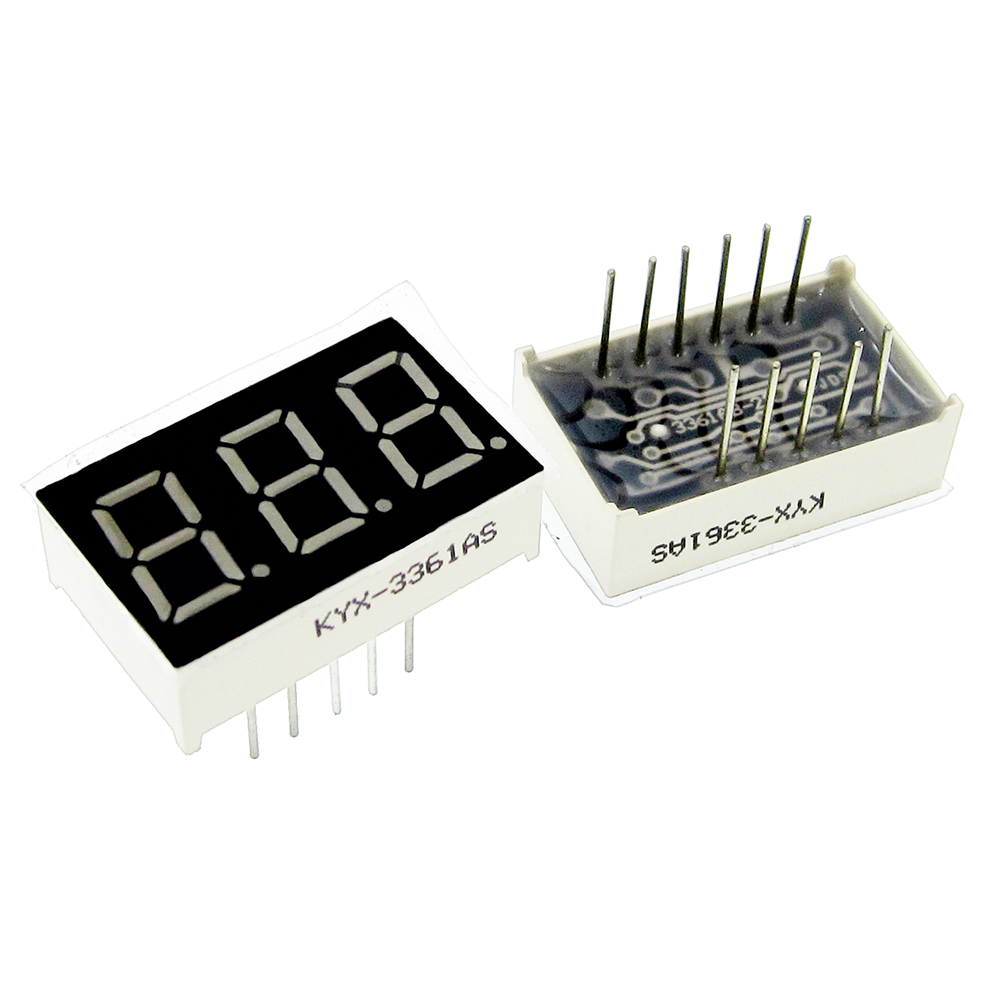 Electronic Components & Supplies 5pcsx 0.56 Inches Red Blue Jade Green 3 Digital Tube 5361as 5361bs 5361ab 5361bb 5361agg 5361bgg Led Display Module Optoelectronic Displays