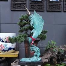 Tuna swim swordfish copper sculpture crafts ornaments bronze statue series marine business gifts
