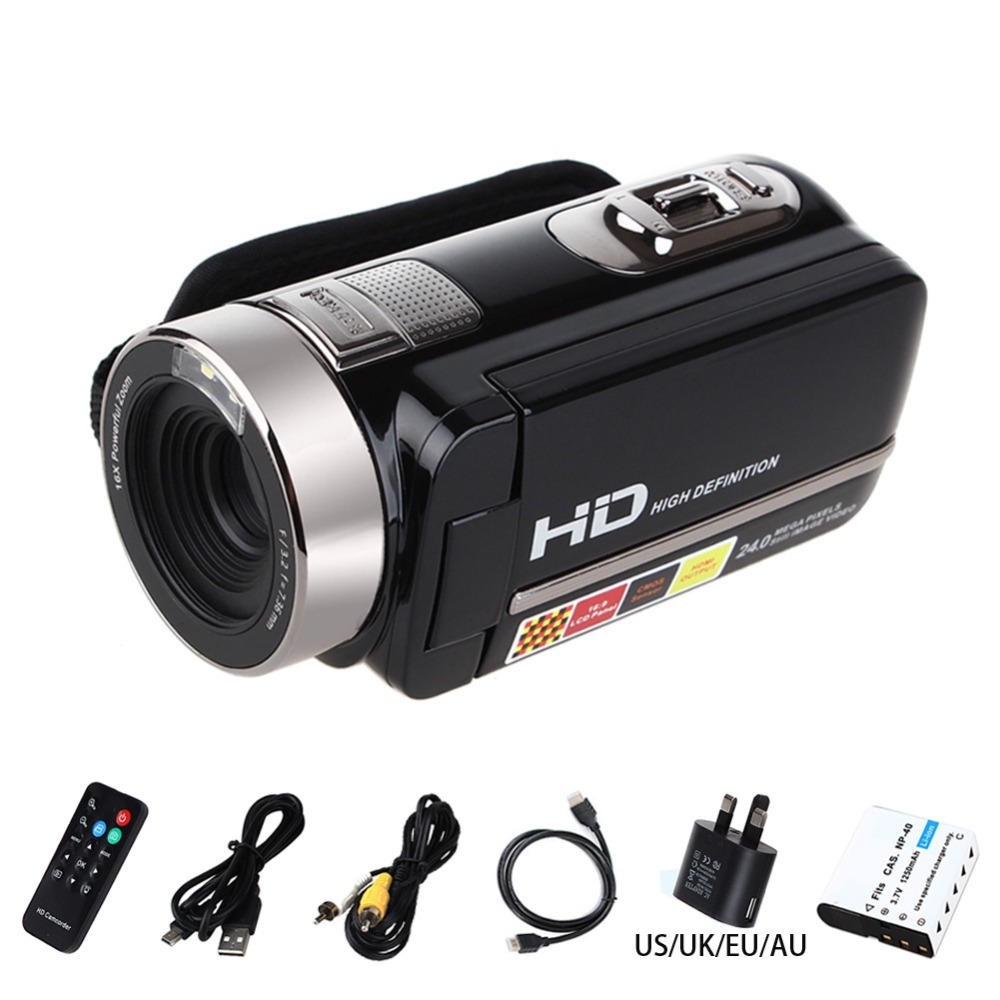 hd Video Camera Digital Camcorder Full HD 1080P 24MP Video DV DVR 3″TFT LCD 16X Digital ZOOM Support Night Shot Remote Control