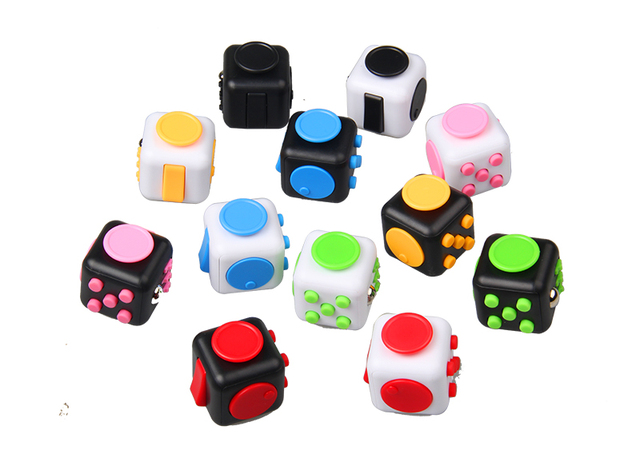 Cool Fidget Cube Hand Finger Spinner Decompression Anxiety Toys Killing Time Stress Relief Toy