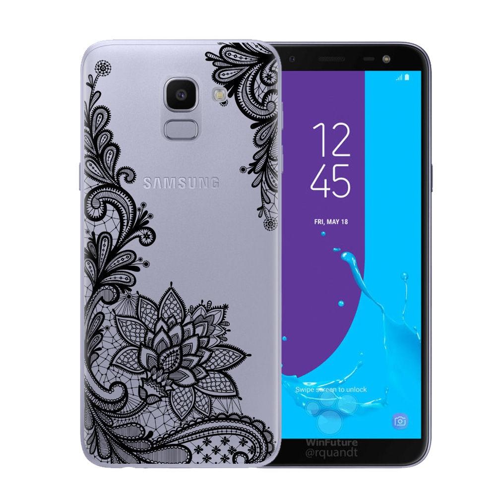 Floral Lace Mandala Coque Samsung Galaxy Grand J2 J5 Prime J3 J7 A5 J4 J6  A6 A8 EU Soft Silicone Phone Cover