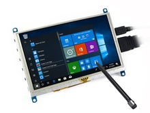 5 pulgadas pantalla táctil resistiva LCD de 800×480 HDMI interfaz de salida de audio de trabajo como monitor de ordenador compatible con Windows 10 raspberry Pi