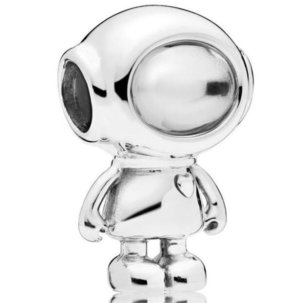 925 Sterling Silver Bead Charm Vintage Cute Alienware Cosmo Astronaut Beads Fit Pandora Bracelet & Necklace Diy Jewelry925 Sterling Silver Bead Charm Vintage Cute Alienware Cosmo Astronaut Beads Fit Pandora Bracelet & Necklace Diy Jewelry