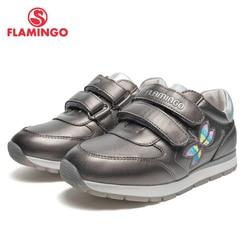FLAMINGO marki oddychające Arch EVA Hook & Loop dzieci sportowe buty skórzane rozmiar 26-31 dzieci Sneaker dla chłopca 91P-XC-1354