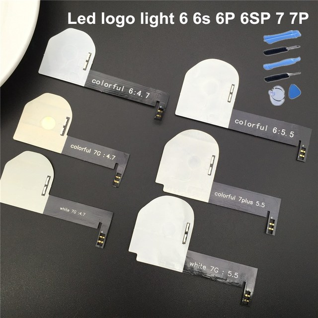 huge discount 97614 3d1e1 US $8.4 |SZYSGSD Night Glow Cool Light Logo LED for Iphone 6 6s 6s Plus  Touch smart control for iPhone 7 7 Plus led logo light-in Mobile Phone ...