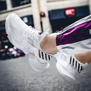 Image 4 - プラスサイズ 39 46 男性スニーカーカジュアルお父さん靴分厚い通気性軽量快適なトレーニングファッション男性靴 # ABG79