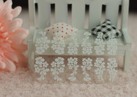 New Fashion Art Nail Sticker With White 3D Flower Lace Adhesive Nail Decoration DIY Sticker Decal Lace Acrylic Y5326