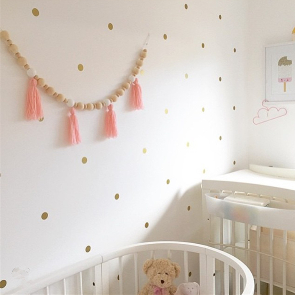 LM27 INS Nordic Style Kids Children's Room Tent Wall Decor Wooden Beads With Tassel Hanging Decorations 100% Handmade Ornaments