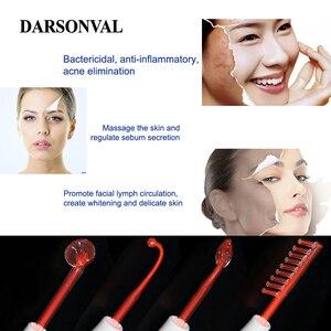 Image 3 - DARSONVAL 4 pièces haute fréquence Tubes en verre du visage masseur de cheveux électrode baguette remplacement acné détachant Orange Ray soins du visage