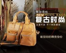 Free shippingFashion genuine leather man bag crazy horse vintage leather male casual handbag cross-body leather bag