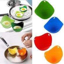 2 комплекта из 8 силиконовых яиц чашки для яйца-пашот с кольцами для микроволновой печи или плиты кастрюли для варки яйца-пашот BPA бесплатно