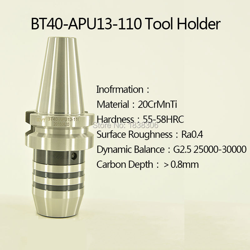 1 pcs Drill Chuck Tool Holder Manufacturer BT APU keyless ToolHolder for CNC Machine clamping dirll bit 1-13mm BT40-APU13-110 bt40 er20 70l milling chuck tool holder for cnc milling machine center