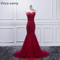 Real Photo Luxurious Croset Bodice Lace Top Quality Burgundy Mermaid Wedding Dresses 2017 Lace Gray Wedding