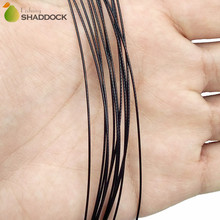 12pcs Nylon Coated Stainless Steel Fishing Line 36cm 1 Arm Black Wire Leaders Trace Fishing Steel Wire With Swivel Snap