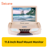 Seicane 11.6 inch Remote Control HD 1080P Roof Mount Monitor Player Support HDMI IR/FM Transmitter Video Input Output