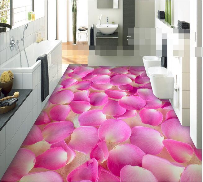 ФОТО 3 d pvc flooring custom beautiful petals 3 dbathroom flooring tile background paintings photo 3d wall murals wallpaper