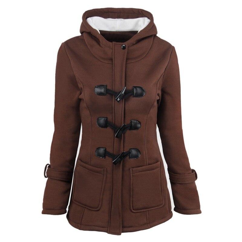 Hooded   Parkas   Female Women Winter Coat Thicken Cotton Blending Jacket Womens Outwear   Parkas   for Women T7
