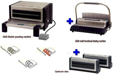 Electric Punch And Binding Machine All In One, Comb Binding Machine And Wire Binding Machine Combo, Heavy Duty