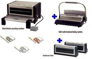 Image 1 - Elektrische punch und bindung maschine alle in einem, kamm bindung maschine und draht bindung maschine combo, heavy duty
