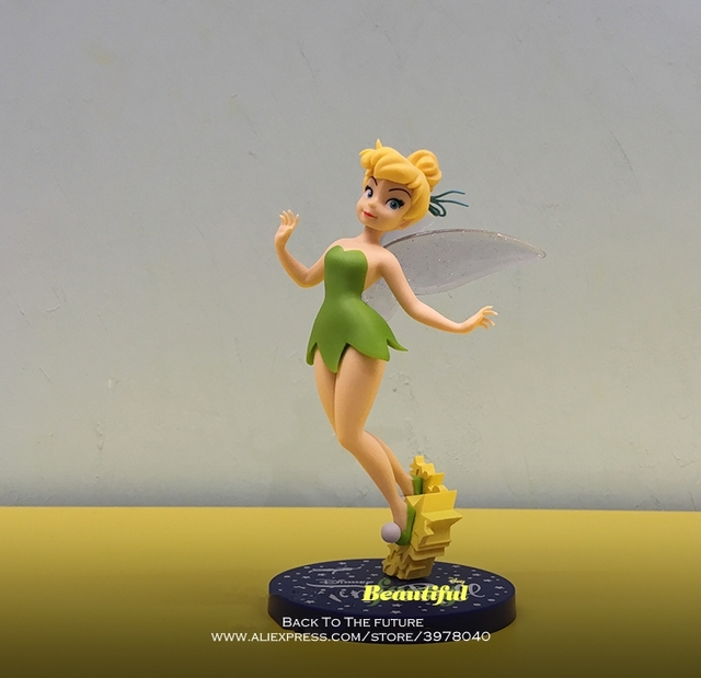 Disney Tinker Bell Princess Cartoon 20cm mini doll Action Figure Anime Mini Collection Figurine Toy model for children gift