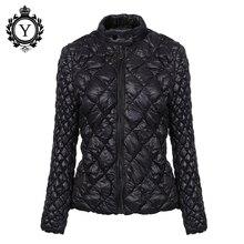 Coutudi Лидер продаж 2016 года Сверхлегкий одноцветное пальто парка женская зимняя куртка Уникальный Стиль женские куртки короткие теплые Водонепроницаемый тонкое пальто