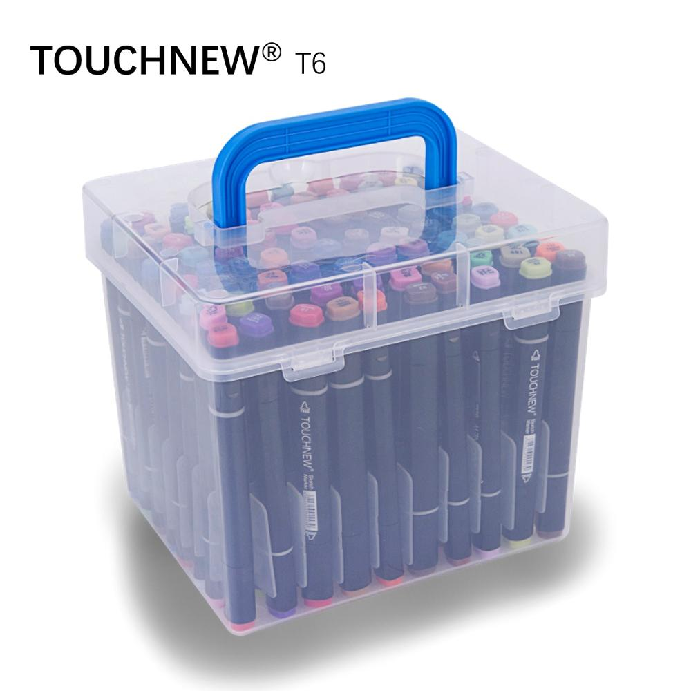TOUCHNEW T6 80 colors dual tips black barrel sketch markers case packed for drawing painting design manga art supplies touchnew t6 60 80 colors dual tip black barrel sketch markers camouflage bag for drawing painting design manga copic